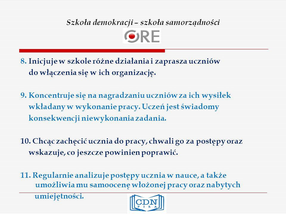 Szkoła demokracji – szkoła samorządności 8.