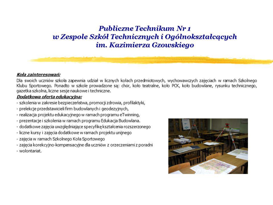 Publiczne Technikum Nr 1 w Zespole Szkół Technicznych i Ogólnokształcących im.