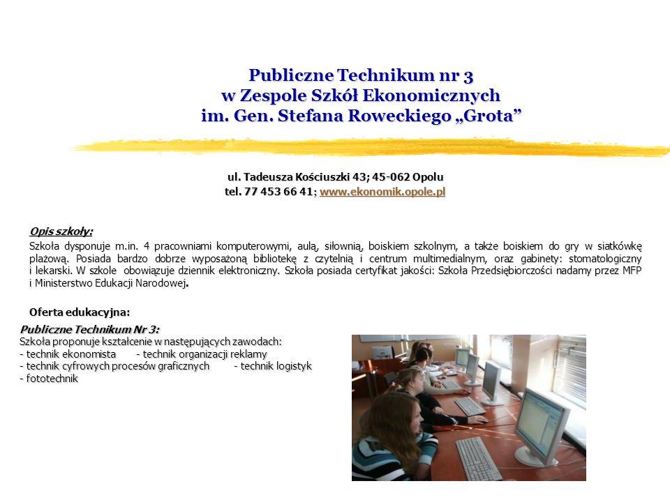 Publiczne Technikum nr 3 w Zespole Szkół Ekonomicznych im.