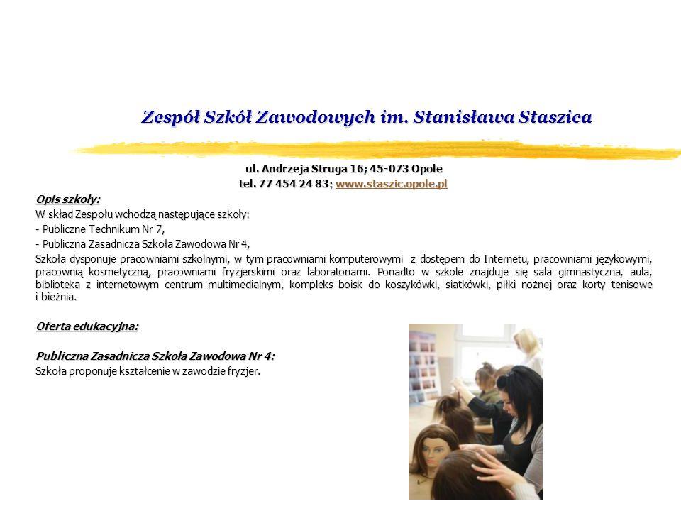 Zespół Szkół Zawodowych im. Stanisława Staszica ul.