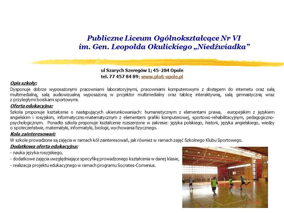 Publiczne Liceum Ogólnokształcące Nr VI im. Gen.