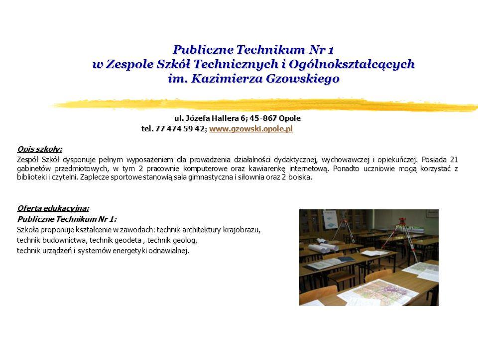 Miejski Ośrodek Doskonalenia Nauczycieli ul.Wróblewskiego 7; 45-760 Opole tel.