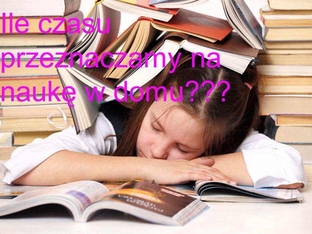ILE CZASU PRZEZNACZAM Y NA NAUKĘ W DOMU??? Ile czasu przeznaczamy na naukę w domu???