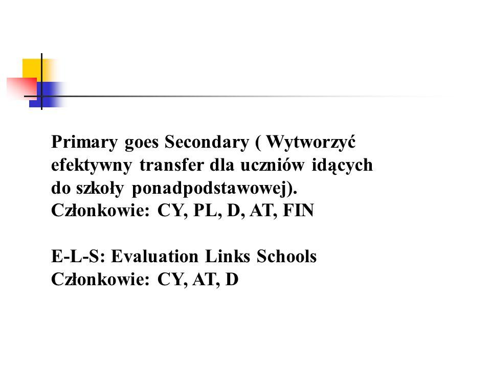 Primary goes Secondary ( Wytworzyć efektywny transfer dla uczniów idących do szkoły ponadpodstawowej).