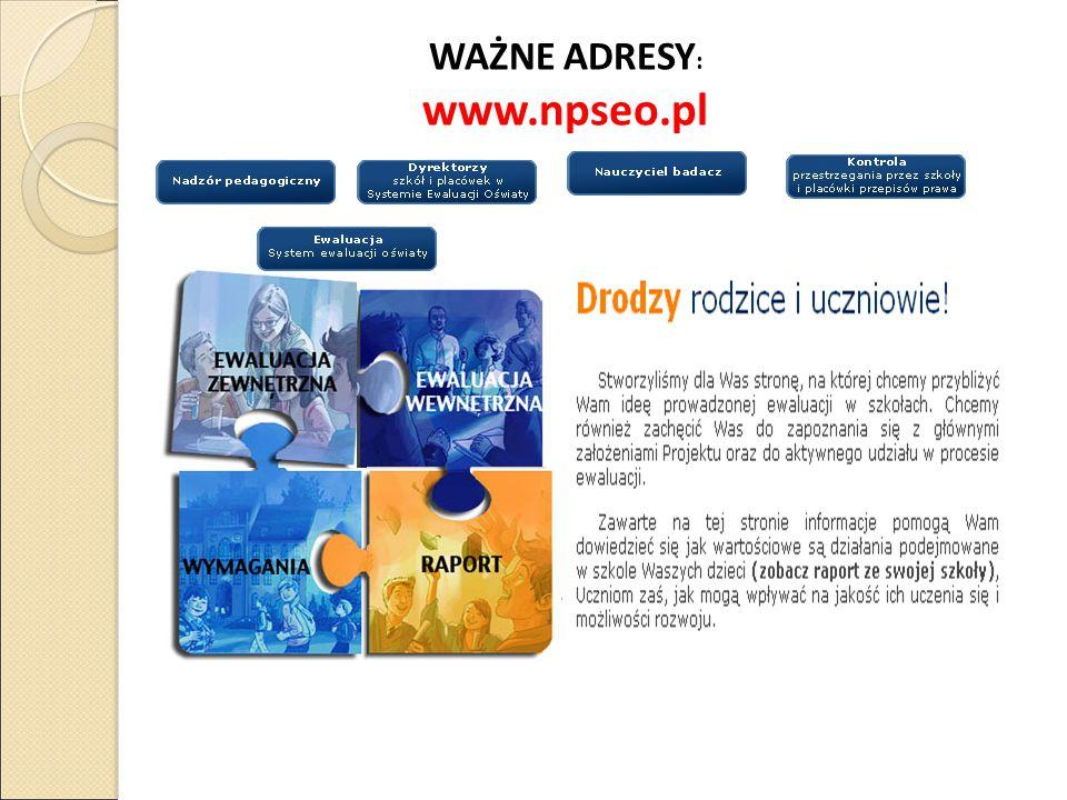 WAŻNE ADRESY : www.npseo.pl