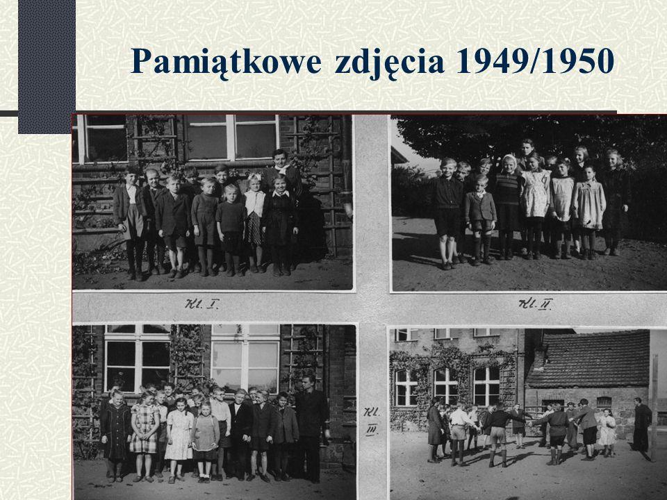 Pamiątkowe zdjęcia 1949/1950