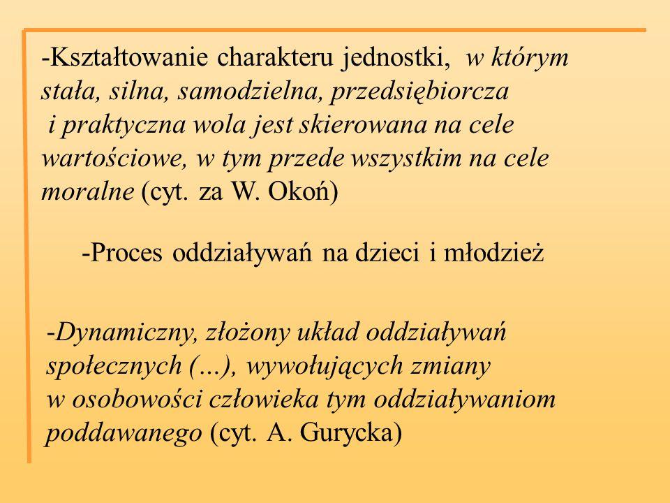 -Oddziaływanie pokoleń dorosłych na te, które nie dojrzały jeszcze do życia społecznego (cyt.