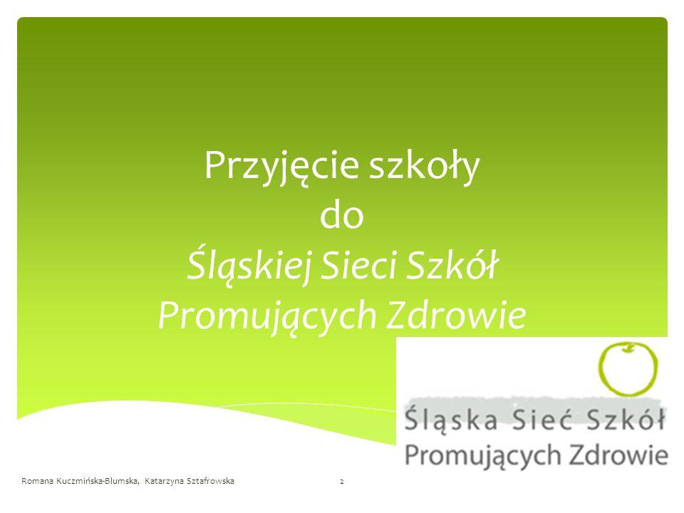 Przyjęcie szkoły do Śląskiej Sieci Szkół Promujących Zdrowie Romana Kuczmińska-Blumska, Katarzyna Sztafrowska2