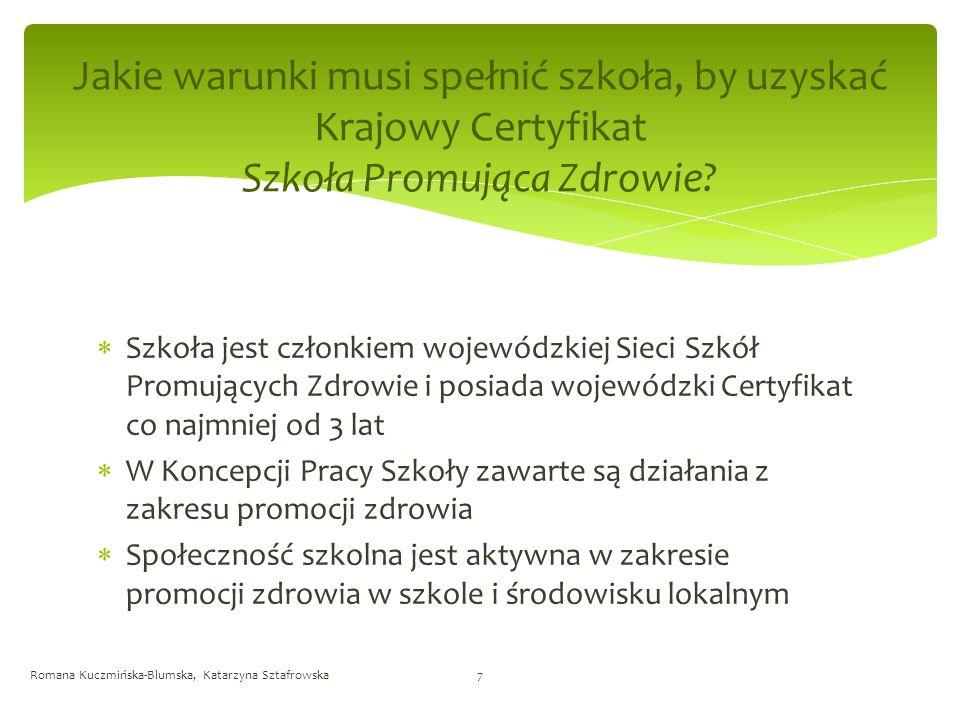 Jakie warunki musi spełnić szkoła, by uzyskać Krajowy Certyfikat Szkoła Promująca Zdrowie.