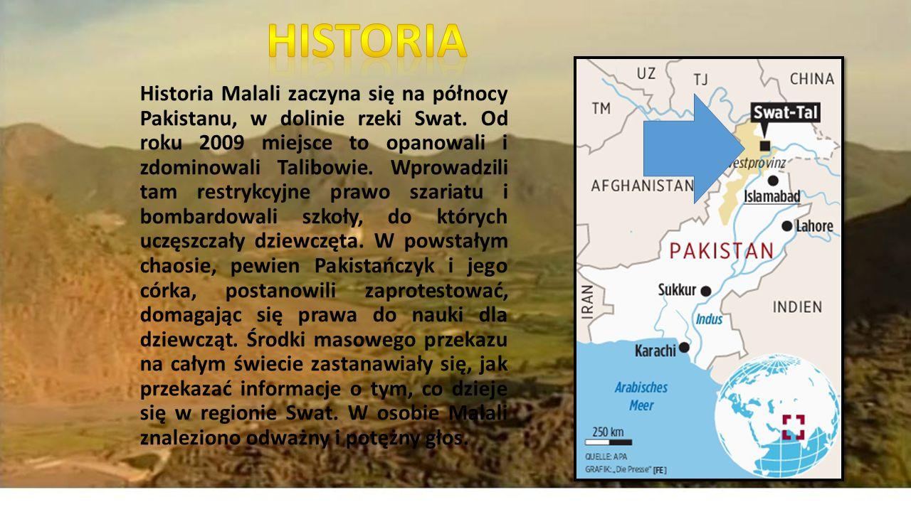 Historia Malali zaczyna się na północy Pakistanu, w dolinie rzeki Swat.
