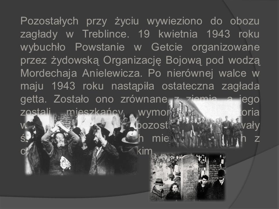 Żydowska Kultura w Warszawie Przed II wojną światową Warszawa plasowała się na drugim miejscu, po Nowym Jorku, pod względem liczby mieszkańców pochodz