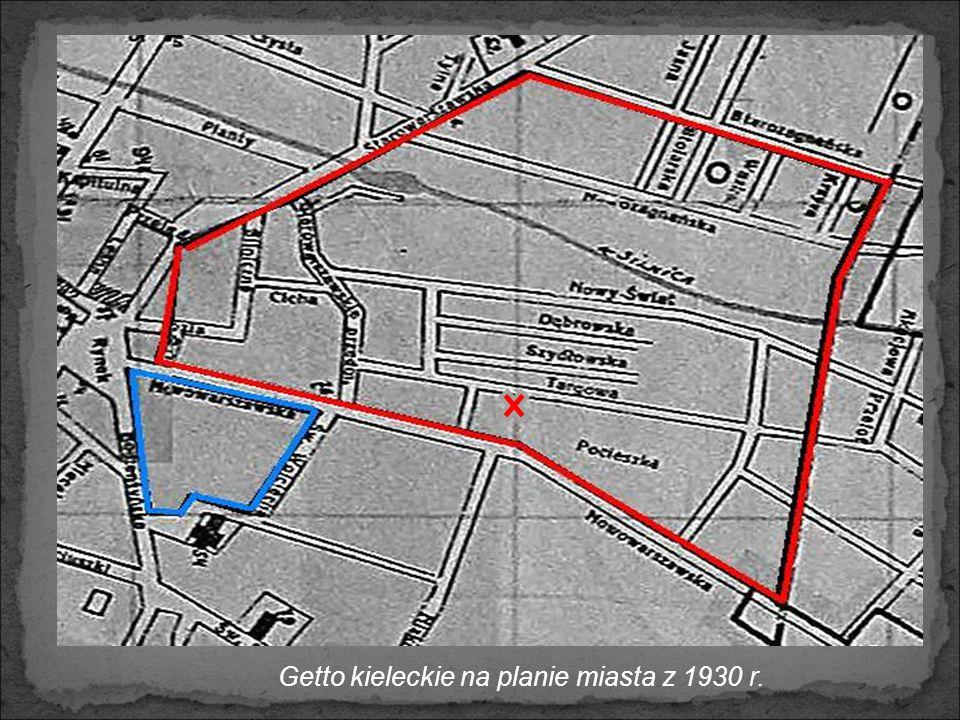 Przedwojenne dzielnice miasta zamieszkałe przez społeczność żydowską Kielce, ul. Duża Kielce, ul. Bodzentyńska