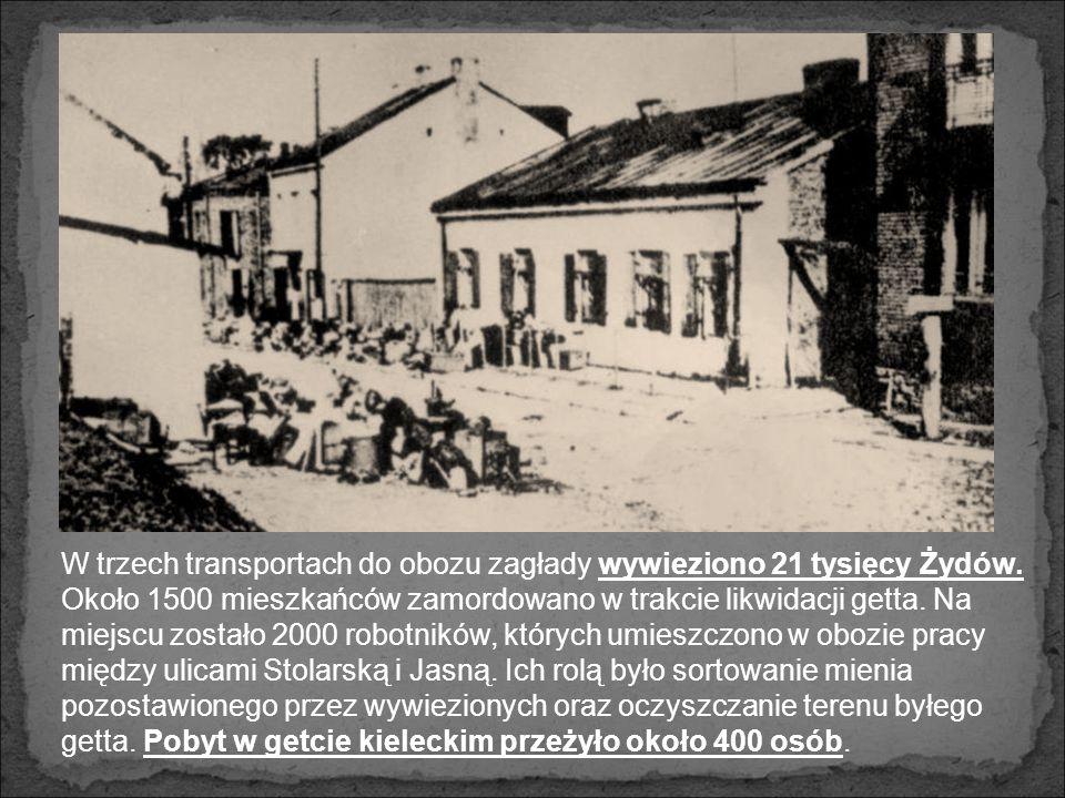 Getto w Kielcach, widok od strony ul. Koziej