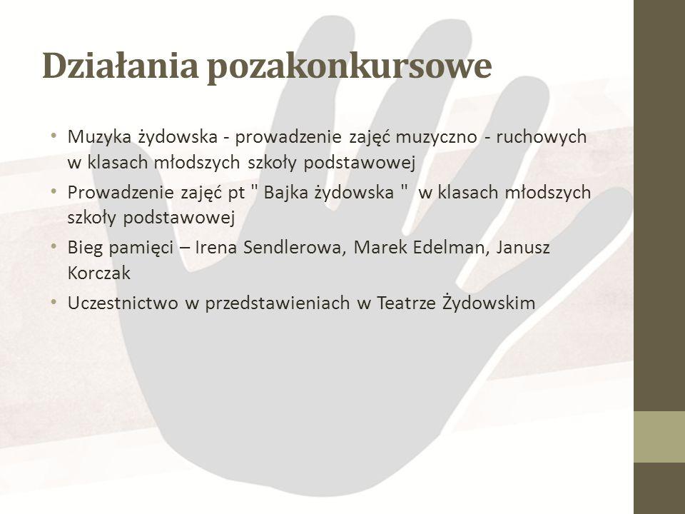MIEJSCE 1 Andżelika Honcarewicz, Gimnazjum im. I. Sendlerowej w Sępopolu,