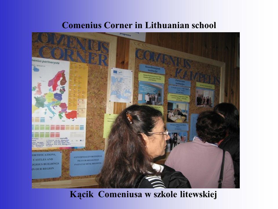 Comenius Corner in Lithuanian school Kącik Comeniusa w szkole litewskiej
