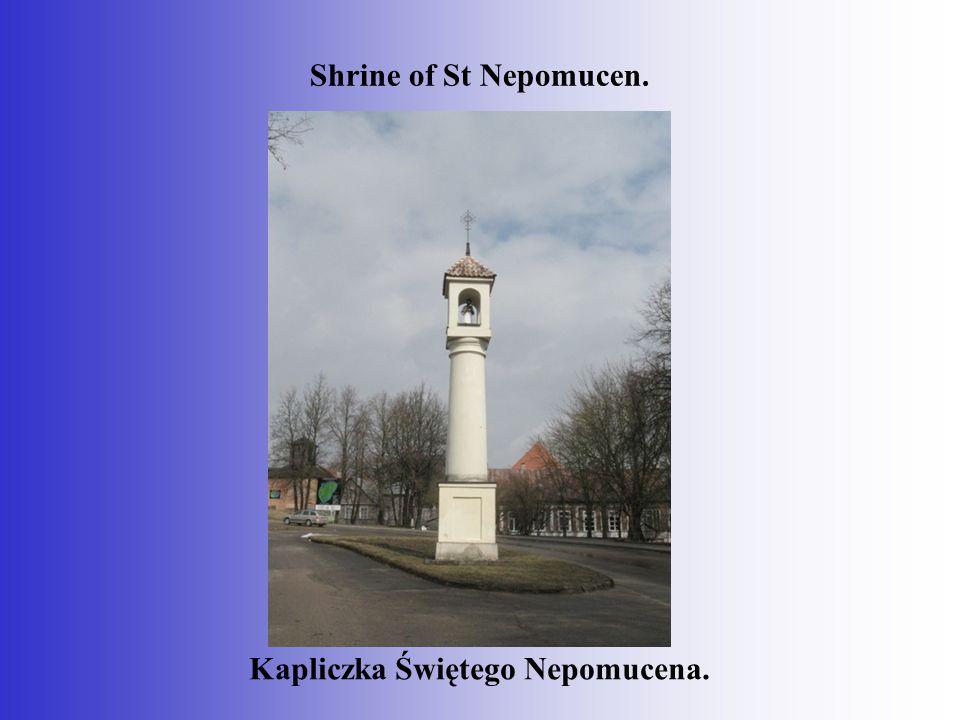 Shrine of St Nepomucen. Kapliczka Świętego Nepomucena.