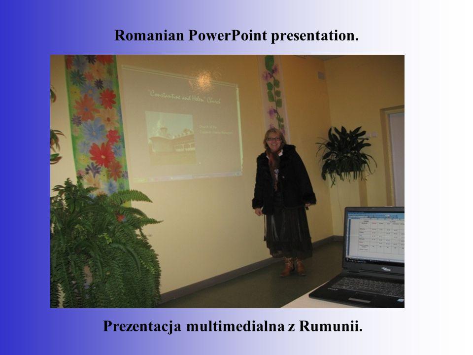 Prezentacja multimedialna z Rumunii. Romanian PowerPoint presentation.