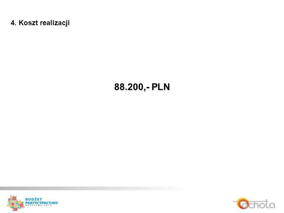 4. Koszt realizacji 88.200,- PLN