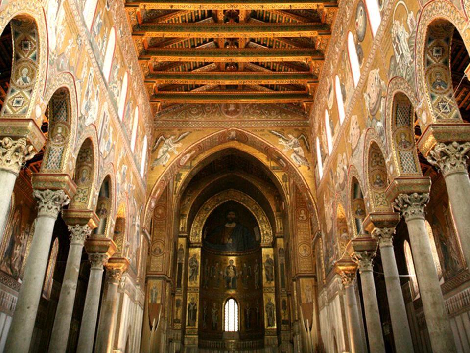 Katedra w Monreale - Sycylia Katedra w Monreale jest największą budowlą z okresu panowania Normanów na północnej Sycylii.