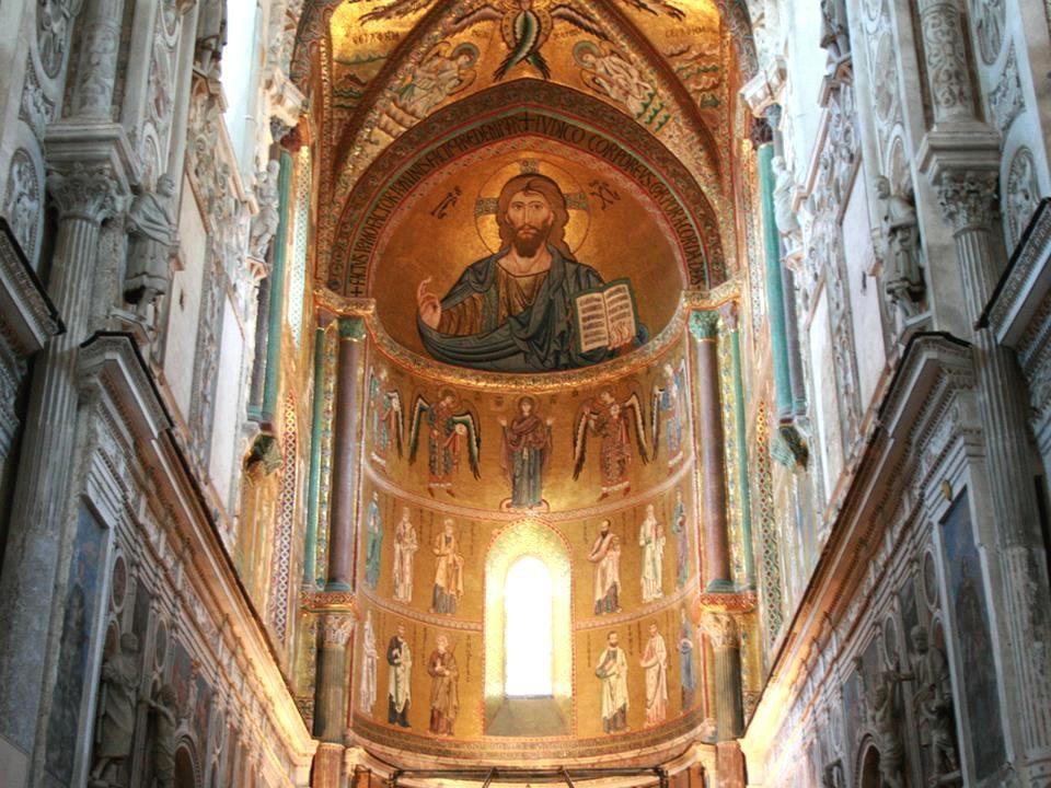 Katedra w Cefalu Sycylia Katedra w Cefalu, ufundowana przez Rogera II została wybudowana w XII w.