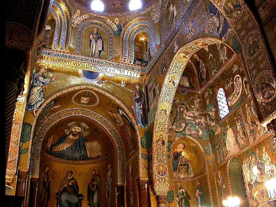 Kaplica Zamkowa Palermo, Sycylia Pałac królewski wzniesiony został w XI przez Normanów na ruinach wcześniejszego zamku arabskiego, wewnątrz którego znajduje się słynna Capella Palatina z XII wieku.
