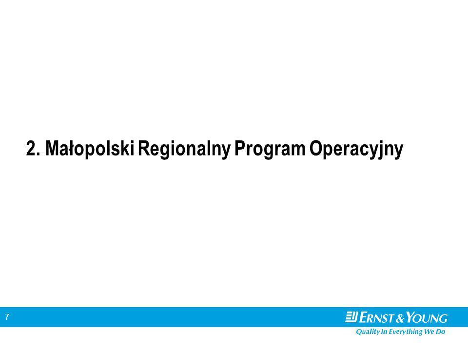 7 2. Małopolski Regionalny Program Operacyjny