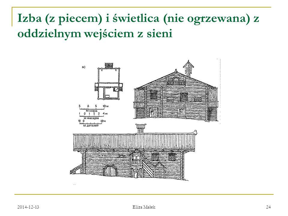 2014-12-13 Eliza Małek 24 Izba (z piecem) i świetlica (nie ogrzewana) z oddzielnym wejściem z sieni