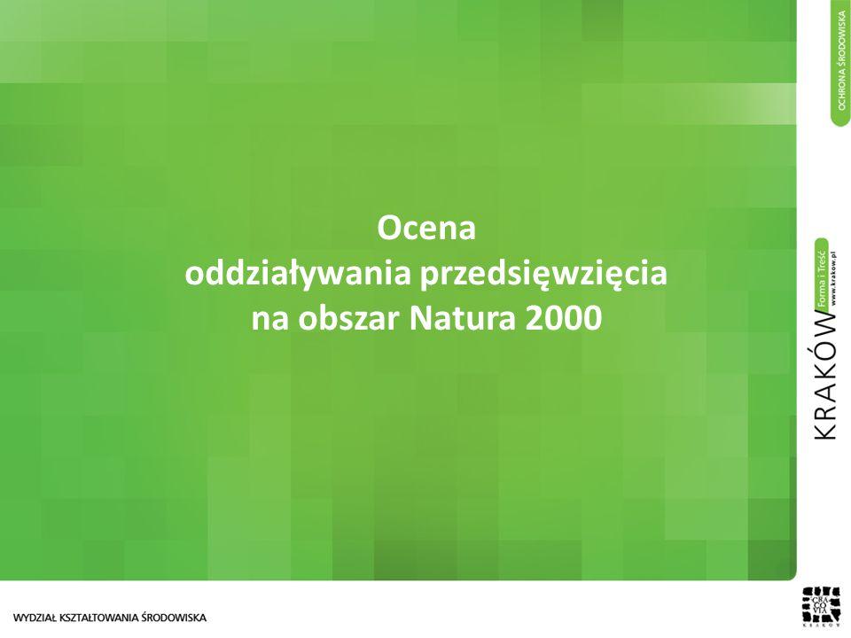 Ocena oddziaływania przedsięwzięcia na obszar Natura 2000
