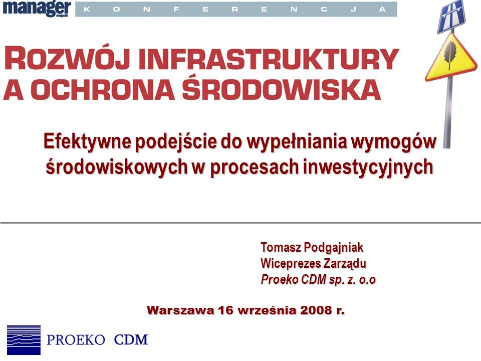 Wymogi UE Od 1 maja 2004 roku Polska zobowiązana jest do spełniania wymogów dyrektyw Unii Europejskiej, w tym między innymi: –Dyrektywy Rady 85/337/EWG z dnia 27 czerwca 1985r.