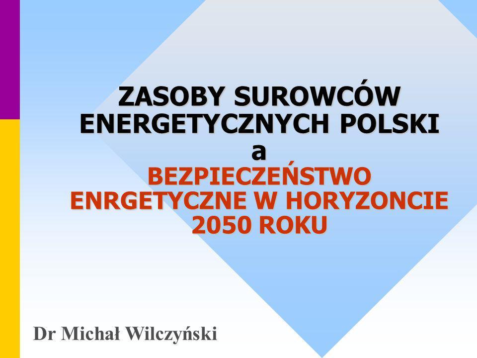 ZASOBY SUROWCÓW ENERGETYCZNYCH POLSKI a BEZPIECZEŃSTWO ENRGETYCZNE W HORYZONCIE 2050 ROKU Dr Michał Wilczyński