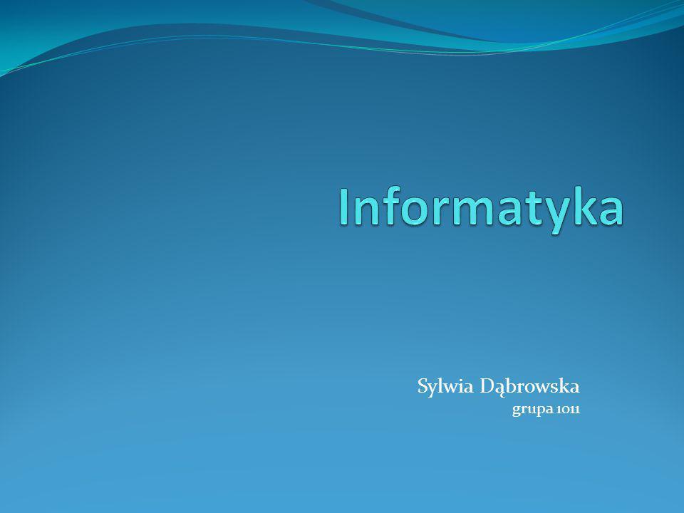 Sylwia Dąbrowska grupa 1011