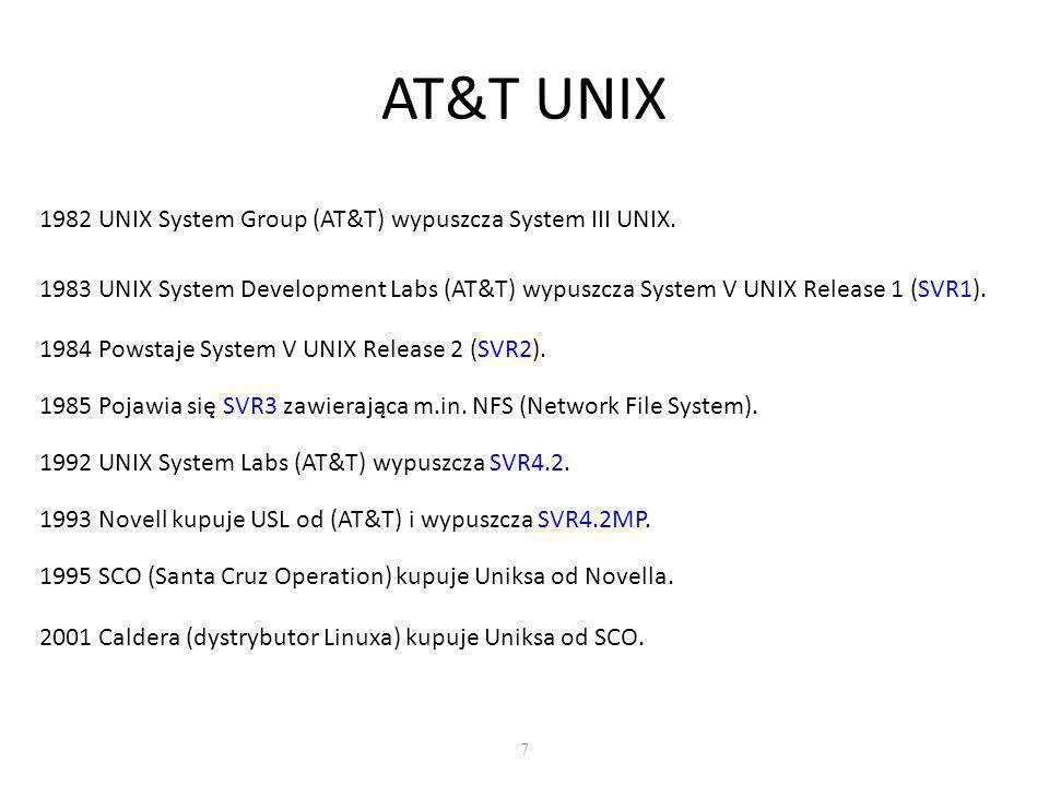 Historia UNIXa 8