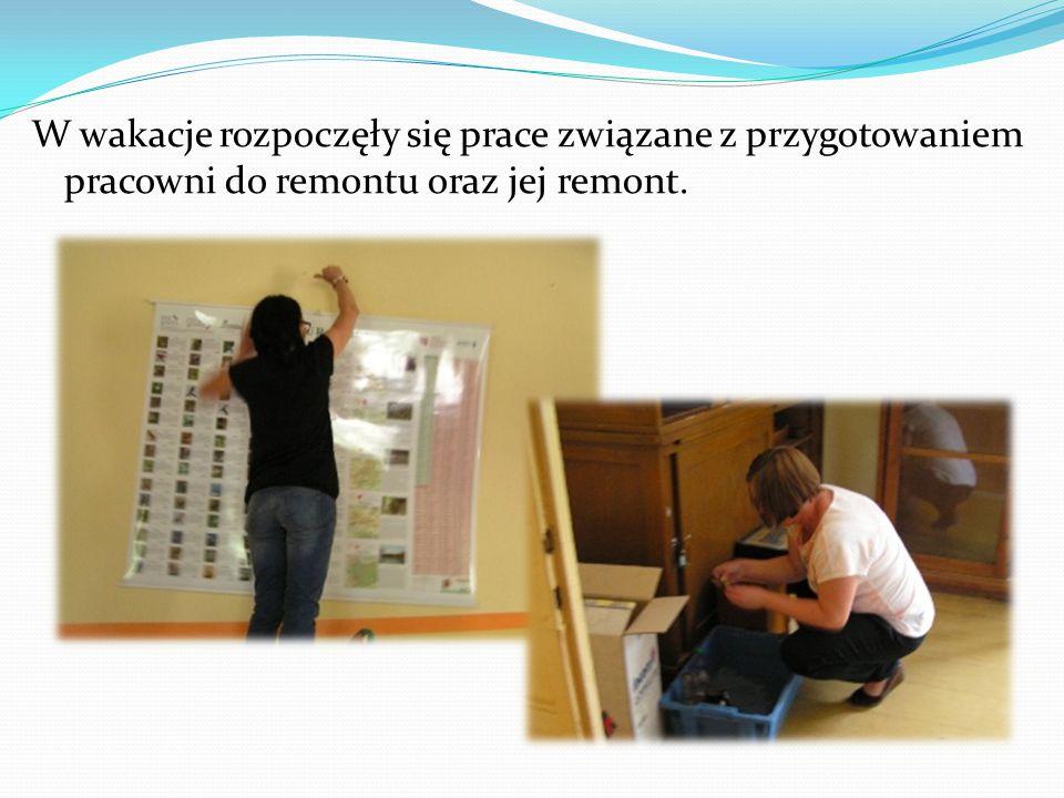 W wakacje rozpoczęły się prace związane z przygotowaniem pracowni do remontu oraz jej remont.
