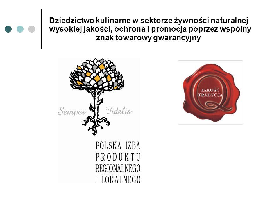 Dziedzictwo kulinarne w sektorze żywności naturalnej wysokiej jakości, ochrona i promocja poprzez wspólny znak towarowy gwarancyjny