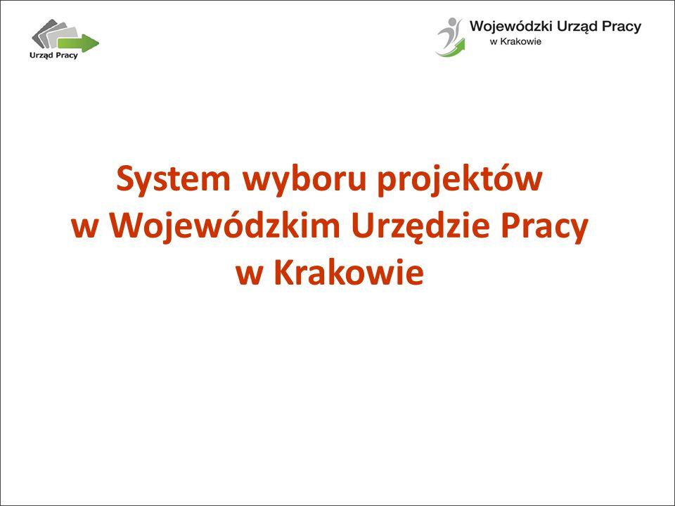 System wyboru projektów w Wojewódzkim Urzędzie Pracy w Krakowie