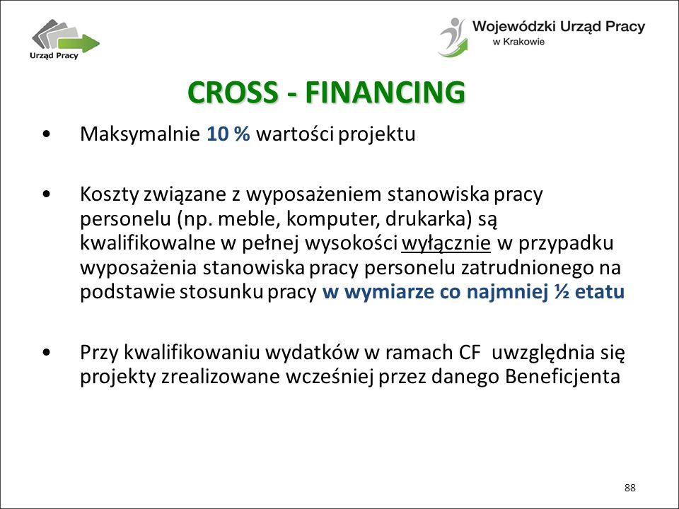 Maksymalnie 10 % wartości projektu Koszty związane z wyposażeniem stanowiska pracy personelu (np.