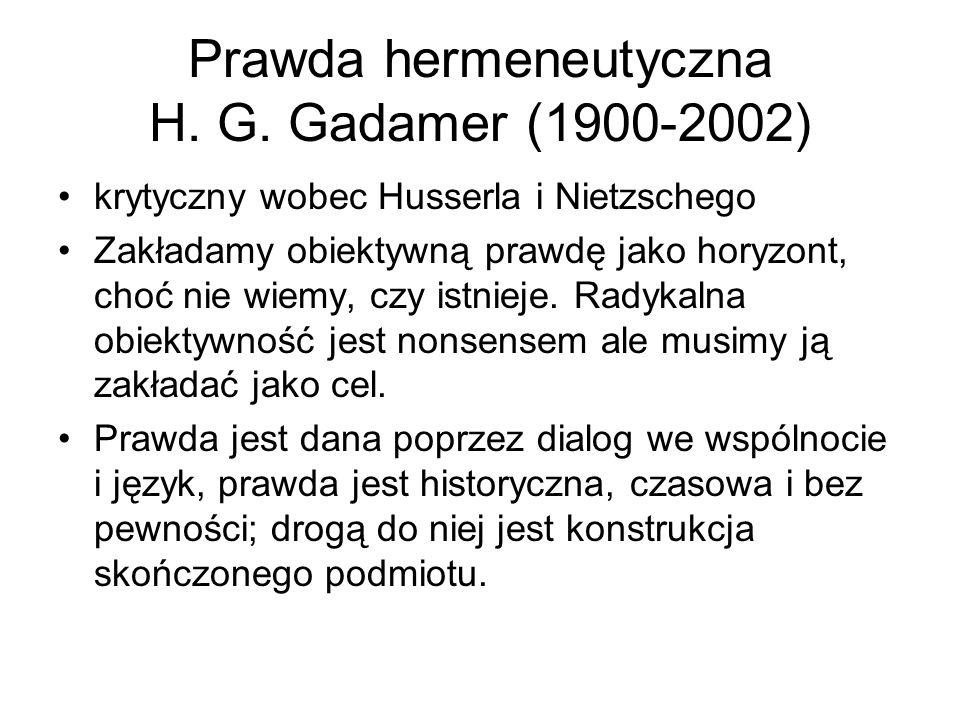 Prawda hermeneutyczna H. G.