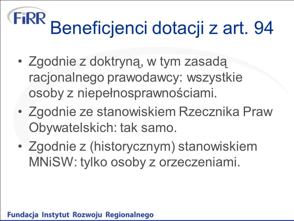 Beneficjenci dotacji z art.
