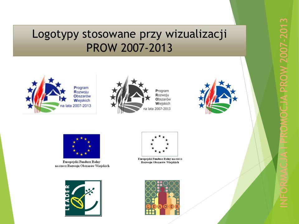 Logotypy stosowane przy wizualizacji PROW 2007-2013