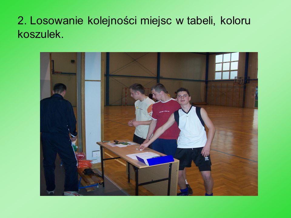 10.I miejsce drużyna Żółtych Stoją od lewej: A. Lasek, K.