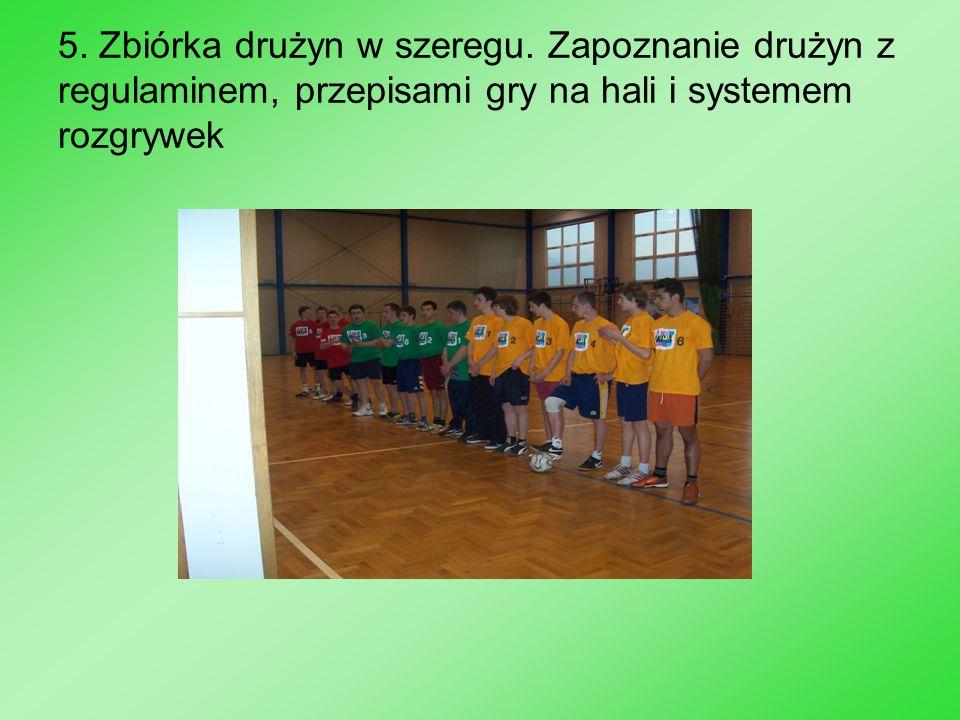 12.III miejsce drużyna Zielonych Stoją od lewej: K.