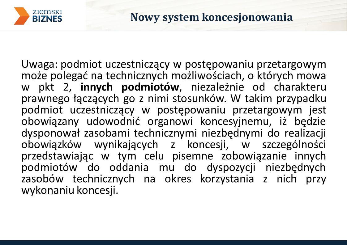 Uwaga: podmiot uczestniczący w postępowaniu przetargowym może polegać na technicznych możliwościach, o których mowa w pkt 2, innych podmiotów, niezależnie od charakteru prawnego łączących go z nimi stosunków.