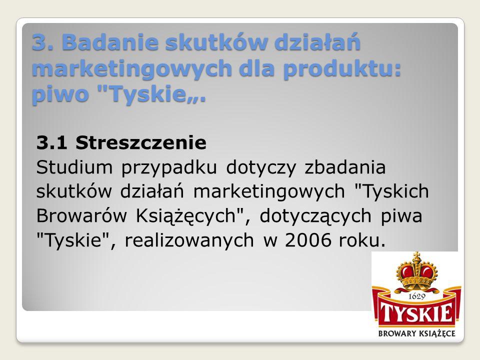 3. Badanie skutków działań marketingowych dla produktu: piwo