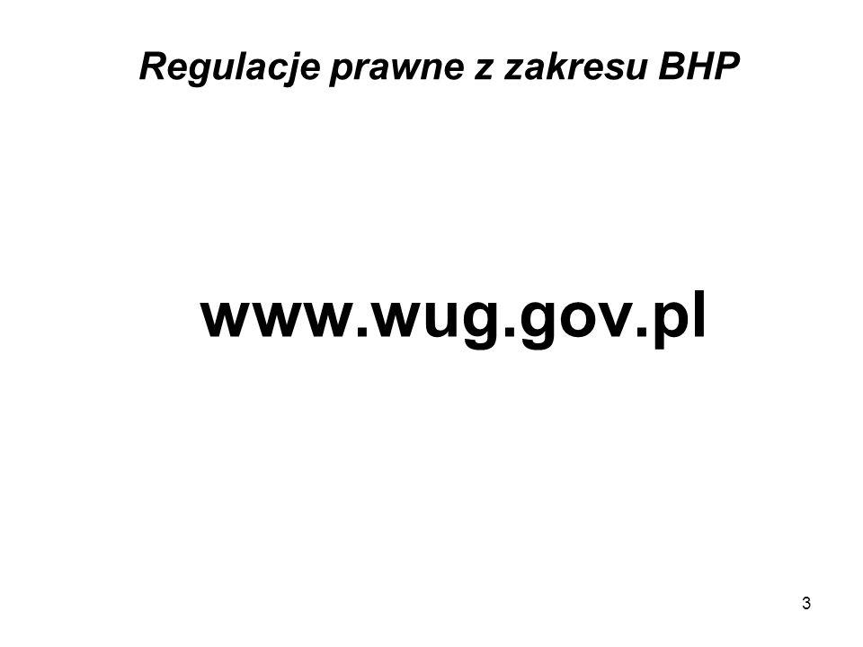 3 Regulacje prawne z zakresu BHP www.wug.gov.pl