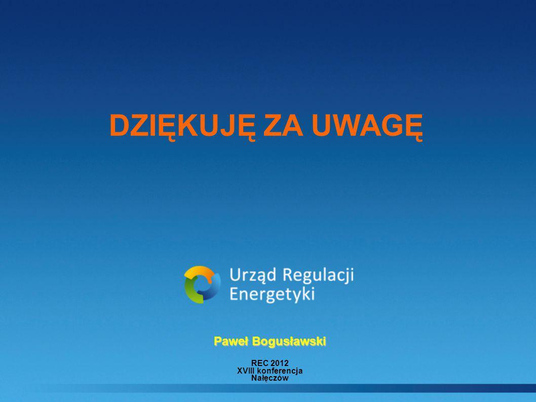REC 2012 XVIII konferencja Nałęczów Paweł Bogusławski DZIĘKUJĘ ZA UWAGĘ