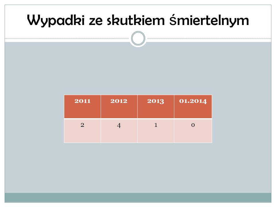 Wypadki ze skutkiem ś miertelnym 20112012201301.2014 241o