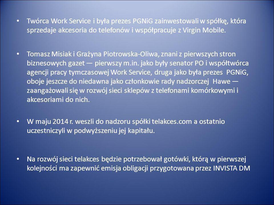 Rada Nadzorcza Tomasz Misiak polityk i przedsiębiorca, senator VI i VII kadencji twórca i były wiceprezes Work Service S.A.