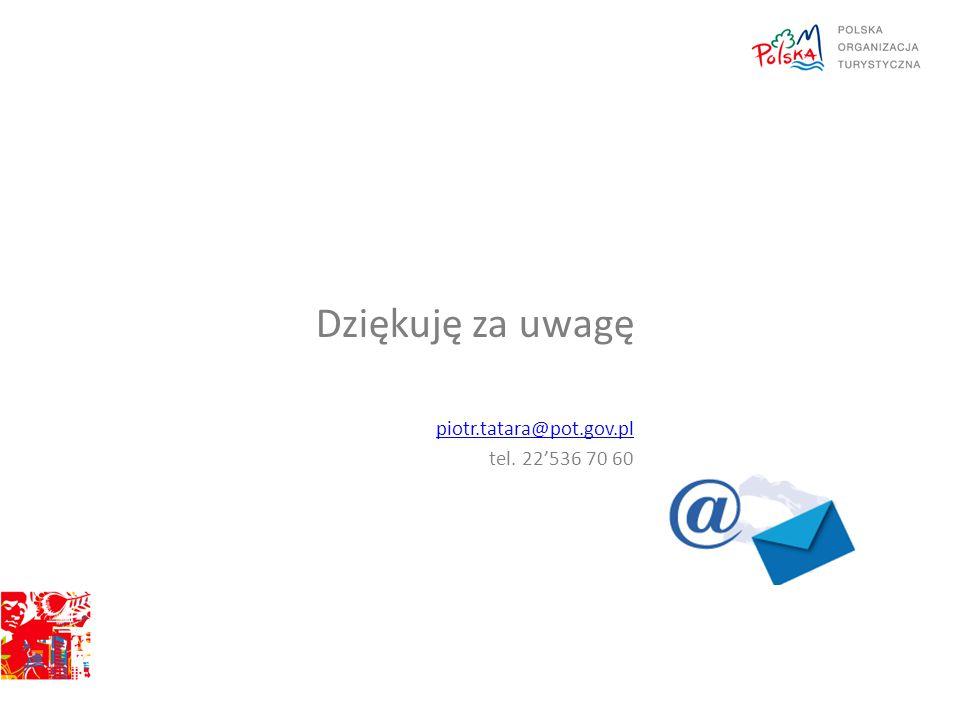 Dziękuję za uwagę piotr.tatara@pot.gov.pl tel. 22'536 70 60