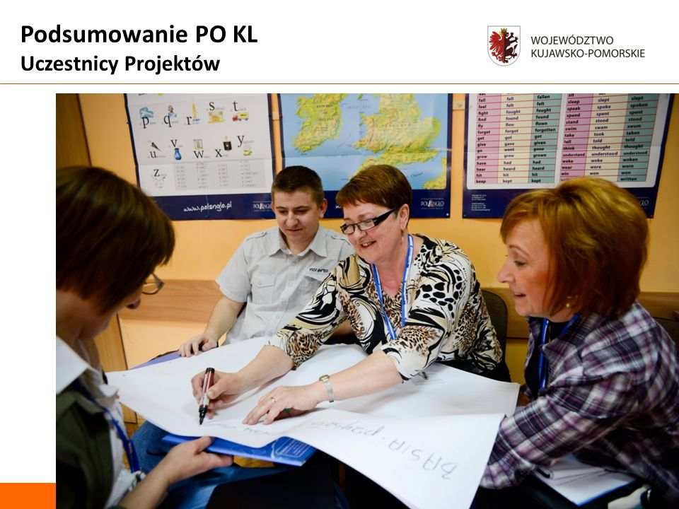 Podsumowanie PO KL Uczestnicy Projektów Departament Spraw Społecznych Zdjęcie uczestnicy