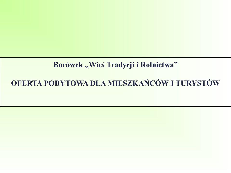"""Borówek """"Wieś Tradycji i Rolnictwa"""" OFERTA POBYTOWA DLA MIESZKAŃCÓW I TURYSTÓW"""